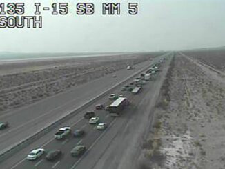 I-15 southbound slows at Primm as holiday weekend ends