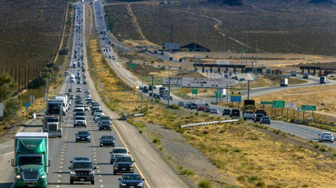 Traffic at California-Nevada border rebounds since COVID-19 began